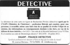 Carte professionnelle mydetective